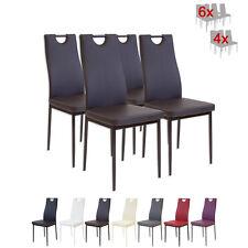 4 x Esszimmerstühle SALERNO Braun Esszimmerstuhl Küchenstuhl Stuhl Stühle
