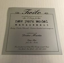 Rare Vintage 90s NYC Club Flyer: DOC MARTIN/ NY Model Mgmt @ TWILO NYC