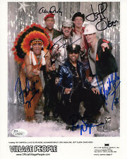 VILLAGE PEOPLE HAND SIGNED 8x10 COLOR PHOTO+COA      SIGNED BY WHOLE BAND    JSA