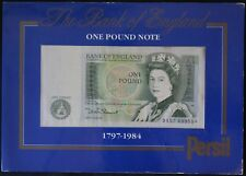 1797-1984 | B.O.E. One Pound Bank Note 'Persil Card' | Bank Notes | KM Coins