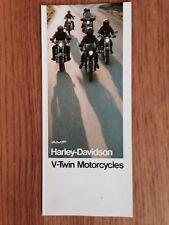 1978 Harley Davidson AMF Brochure CAFE RACER XLCR Low Rider ELECTRA GLIDE V-Twin