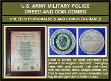 Mc-Better: Personalized Military Police Mp Creed And Engraved Mp Coin