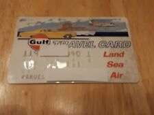 Vintage Gulf Oil Company Travel Card Land Sea Air Collectors Credit Card charge