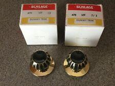 Lot of 2 <> Schlage 7/3 Dummy Trim A170 <> Non-Turning Door Knob <> Vintage New