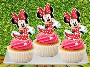 Disney MINNIE MOUSE Cupcake Topper (12pcs)