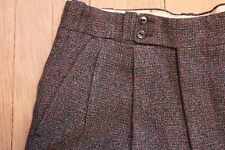 Rare Men's Vintage 1930s Dress Pants Brown Tailored Dated Trousers 1937