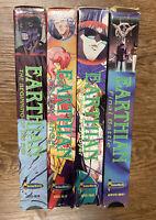 Earthian Anime VHS Video Tape Lot Of 4 AWVD938-41 English Language Dialogue
