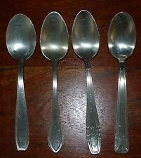 LOT 4 petites cuillères diverses en métal argenté 13g 18g ANCIEN VINTAGE #MH