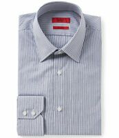 HUGO BOSS C-MENZO US RED LABEL DRESS SHIRT REGULAR FIT NAVY STRIPED - NWT