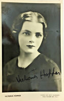 VICTORIA HOPPER ACTRESS SIGNED REAL PHOTO POSTCARD RPPC UNPOSTED