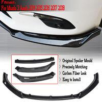 For Mazda 3 Axela 2014-2018 Carbon Fiber Style Front Bumper Lip Protector Cover