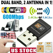 AC 600Mbps Dual Band 802.11ac 2.4/5GHz PC WiFi USB Adapter Wireless Net Dongle