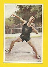 Shot Put Track & Field Los Angeles Olympic Vintage 1932 Sanella Sports Card #25
