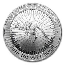 Perth Mint Australia $ 1 Kangaroo 2016 1 oz .9999 Silver Coin