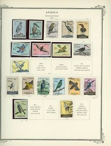 PORTUGUESE COLONIES - ANGOLA Scott Specialty Album Page Lot #13 - SEE SCAN - $$$