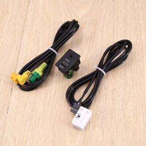 Auto Car USB AUX Switch Cable Adapter Black For BMW E87LCI E88 E90 E91 E92 X5