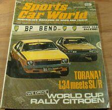 1974.Sports Car World.TORANA L34 v SL/R 5000.Cooper S.CARRERA.Citroen.MANGUSTA