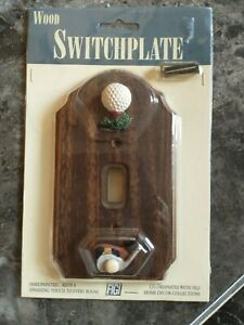 FIGI WOOD WALL SWITCH PLATE COVER - FORE!