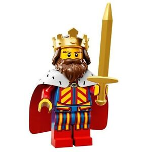 LEGO Minifigures Series 13 classic King with sword + gold crown- suit castle set