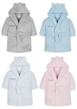 Personalised Baby Dressing Gown Hooded Snuggle Robe 6-18 Months