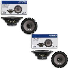 "4 X Alpine 6.5-inch 2-way Car Audio Coaxial Speakers 6-1/2"""