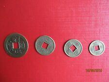 lot de 4 ancienne pièces de monnaie chinoise ( paix & prospérité )