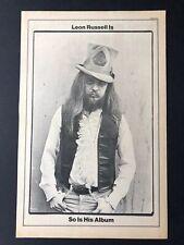 "Leon Russell 1970 Original 11X17"" ""Leon Russell"" Album Release Promo Ad"