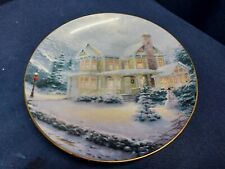 "1993 Bradford Exchange Collector's Plate ""Winter Memories"" Thomas Kincade Le"