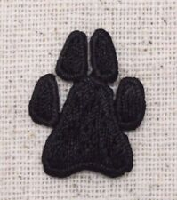 Small/Mini Black Paw Print Animal/Dog/Cat - Iron on Applique/Embroidered Patch