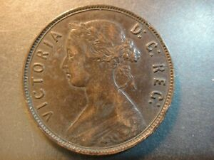 1890 Newfoundland Canada Bronze Large Cent. Queen Victoria. Extra Fine. Toned.