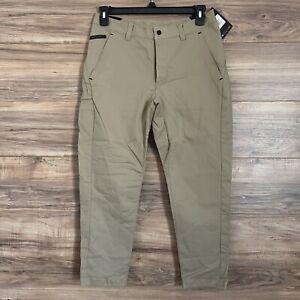 Nike Men Sportswear Khaki Brown Bonded Woven Cropped Pants Size 30 New