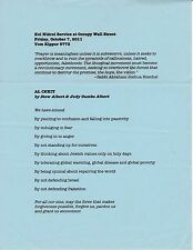 Occupy Wall Street Yom Kippur 2011 services Original 4 pages