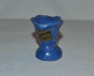 Vintage Stangl Blue Bud Vase - Ceramic Art Pottery - Original Foil Sticker