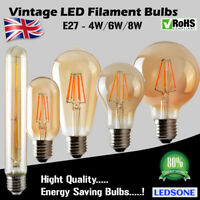 Vintage Industrial Filament LED Light Bulb Squirrel Cage Lamp Edison E27 E14
