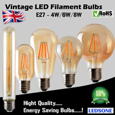 Vintage Industrial Filament LED Light Bulb Lamps Bulbs Squirrel Cage Edison E27