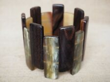 Stretch Bracelet Natural Buffalo Horn + Wood Jewelry