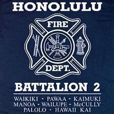 Honolulu Fire Department Battalion 2 Hawaii T-shirt  L