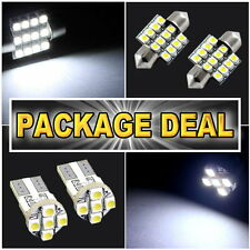 "6x White Led Lights For Map 1.25""+ Dome 1.25"" + License Plate Package Deal #12"