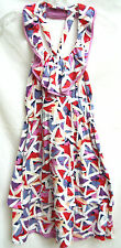 SoldOut $298 MARC JACOBS Womens Cherry Blossom White Red Pink Stretch Sundress S