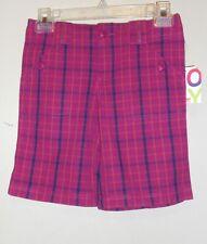 Roxy Girls Plaid Shorts Magenta 10 NWT