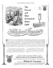 Welsbach Company Junior Light  -  Incandescent Gas lights and Mantles - 1909