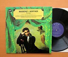 Massenet Werther Excerpts L'Opera Comique George Sebastian VOX STPL 518.060 EX