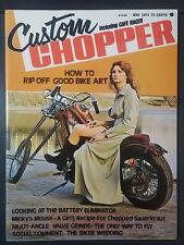 1974 MAY CUSTOM CHOPPER MAGAZINE MOTORCYCLE HARLEY HONDA 750 DIGGER CAFE