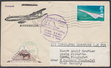 1969 Concorde 4d Stamp;Lundy via Barnstaple . . .Germany Airmail:Osaka(B/S)Japan