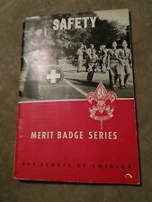 008 Vintage Boy Scouts of America Merit Badge Series Booklet Safety 1958
