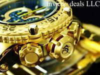 Invicta Men's 52mm Subaqua Noma VI Chronograph Black Dial 18K Gold Plated Watch