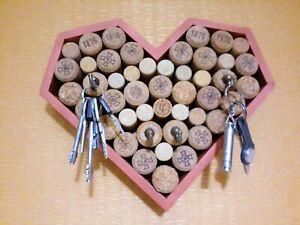Key Holder For Wall, Cork decor, Cork key holder, Wooden Key Hanger, Key holder