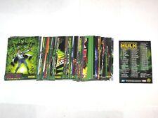 2003 THE INCREDIBLE HULK TOPPS BASE 72 CARD SET! MARVEL! AVENGERS!