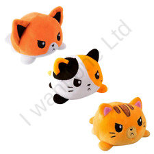 Cute Double-Sided Soft Flip Reversible Funny Cat Gato Moods Animals Plush Toys