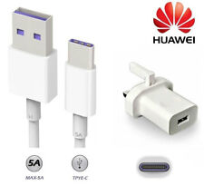 Genuine Huawei Mains Charger Plug and USB Type C Data Cable for Huawei Phones